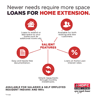 Newer Needs Require more Space - Loans For Home Extension